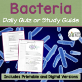 Bacteria Quiz / Homework / Review
