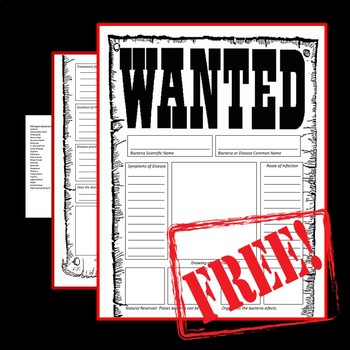 Bacteria Wanted Poster Template
