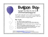 Balloon Bop: An Open-Ended Game for Speech or Language