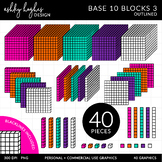 Base 10 Blocks Set 3 {Graphics for Commercial Use}