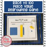 """Base Ten Blocks Game - """"Race to 100"""""""