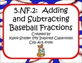 Baseball Word Problems Adding & Subtracting Fractions and