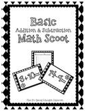 Basic Addition & Subtraction Math Scoot