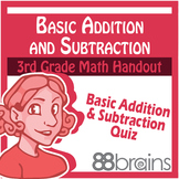 Basic Addition and Subtraction Quiz