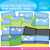 Basic Backgrounds Set 1 - Clipart for Teachers and Teaching
