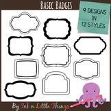 Basic Badges ~ Digital Frame Clip Art
