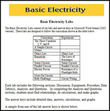 Basic Electricity Labs - Single User License