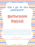 Bathroom Pass Slips - 20 Fun Font Styles