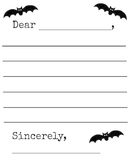 Bats Letter Template