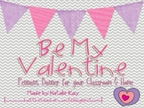 Be My Valentine Pennant Banner