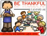 Be Thankful: A November Math/Literacy Unit