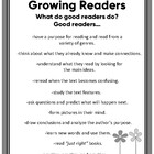 Good Readers Poster: Anchor Chart