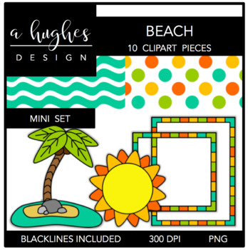 Beach Mini Set {Graphics for Commercial Use}