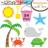Beach / Summer Set: Clip Art Graphics for Teachers