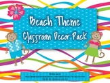 Beach Theme Classroom Decor {With Monkeys}