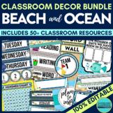 BEACH OCEAN Classroom Theme EDITABLE Decor 34 Printable Pr