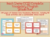 Beach Theme Grade Five CCSS Complete Vocabulary Program