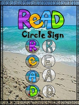 "Beach Themed ""READ"" Sign ~ FREE"