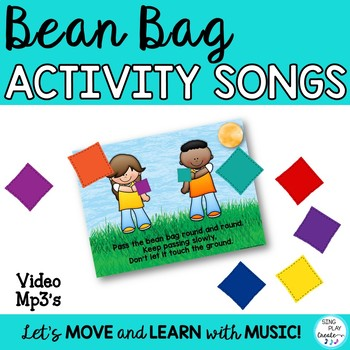 BRAIN BREAK ACTIVITY BEAN BAG SONGS  Pre-K-6 *Ppt Show *Cl