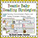 Beanie Baby Strategy Cards - Decoding, Comprehension, Flue