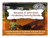 Because of Winn-Dixie Vocabulary Activity Bundle