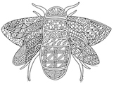 Free Bee Coloring Page