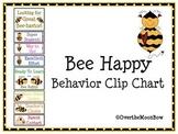 Bee Happy Behavior Clip Chart