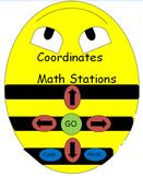 Beebots Coordinates Math Stations