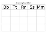Beginning Sound Sort: Bb, Tt, Rr, Ss, Mm