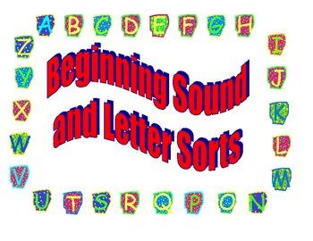 Beginning Sound and Letter Sorts for Kindergarten