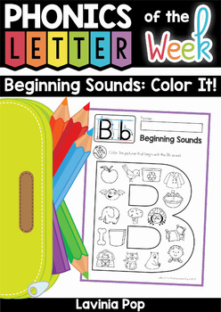 Beginning Sounds - Color It!