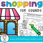 Beginning Sounds - Color It!  Shopping for Sounds