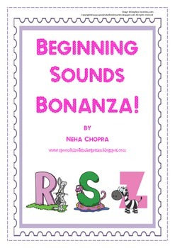 Alphabet- Beginning Sounds Pack