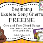 Beginning Ukulele Songs FREEBIE: Song Charts for One and T