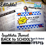 Beginning of Year Welcome Packet for Meet the Teacher - Su