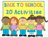 Beginning of the Year: 15 Back to School Activities