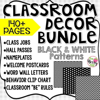 Beginning of the Year (BoY) Big Bundle - Black & White Patterns