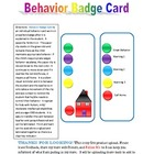 Behavior Badge Card for Special Education, Autism, EBD, MOID