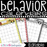 Behavior Calendars FULL YEAR 2015-2016 ***COMPLETELY Editable***