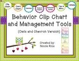 Behavior Clip Chart and Management Tools - Owls & Chevron