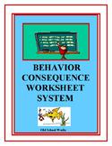 Behavior Consequence Worksheet System
