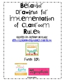 Behavior Drawings for Implementation of Classroom Rules