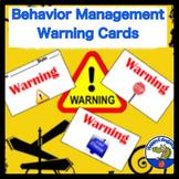Behavior Management Warning Cards