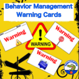 Classroom Management Warning Cards