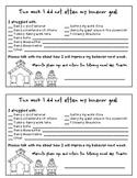 Behavior Note- Classroom Management Parent Communication T
