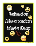 Behavior Observation Made Easy: Frequency Data Collection Form