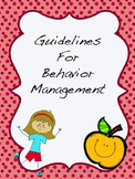 Back to School! Behavior Protocol for the Resource Room