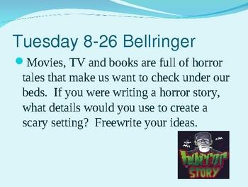 Bellringers / Classroom Warmups 1 Powerpoint