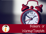 Bellwork or Daily Quiz Template
