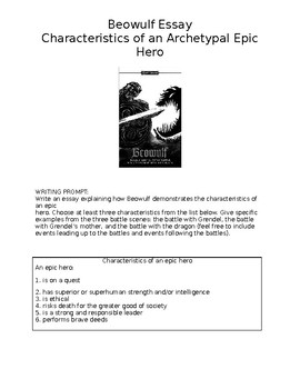 Epic hero essay